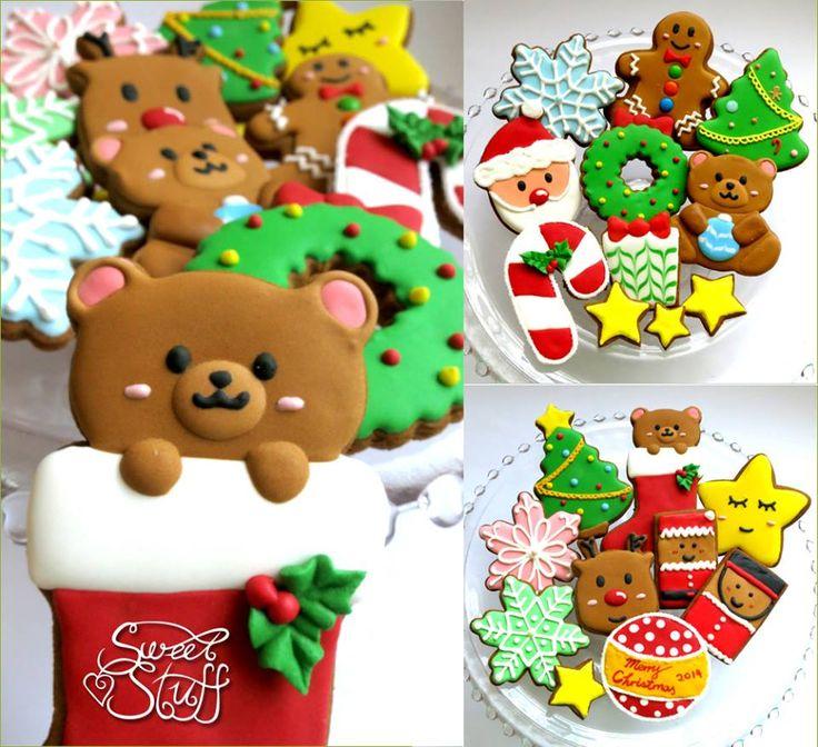 Decorated Christmas cookies   #sweetstuff #christmascookies #christmas