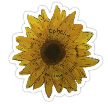 The Lumineers Ophelia Flower Sticker