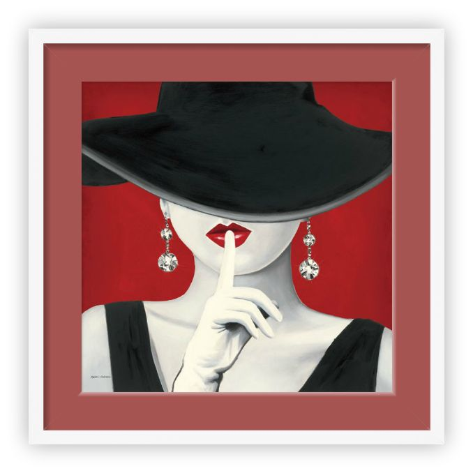 "Tablou ""Haute Chapeau Rouge I"" http://www.artfoyer.ro/haute-chapeau-rouge-i.html"