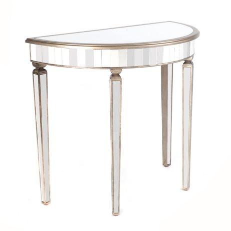 #kirklands#pinitprettyWood U0026 Glass Mirrored Demilune Table #kirklands  #eclecticelegance