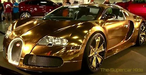 bugatti veyron super sports car gold edition cars