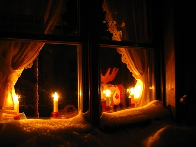 candles in window