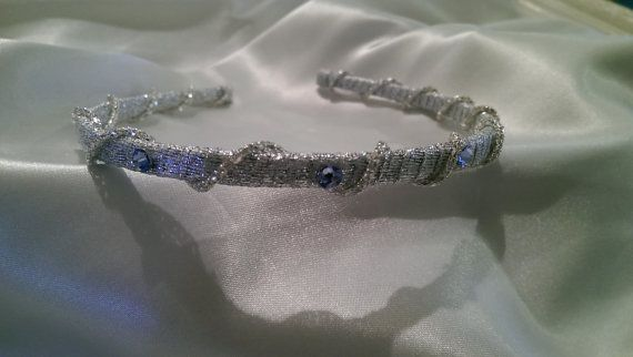 Stunning Headband with Silver Fabric silver chain and by Hairotics, $28.95