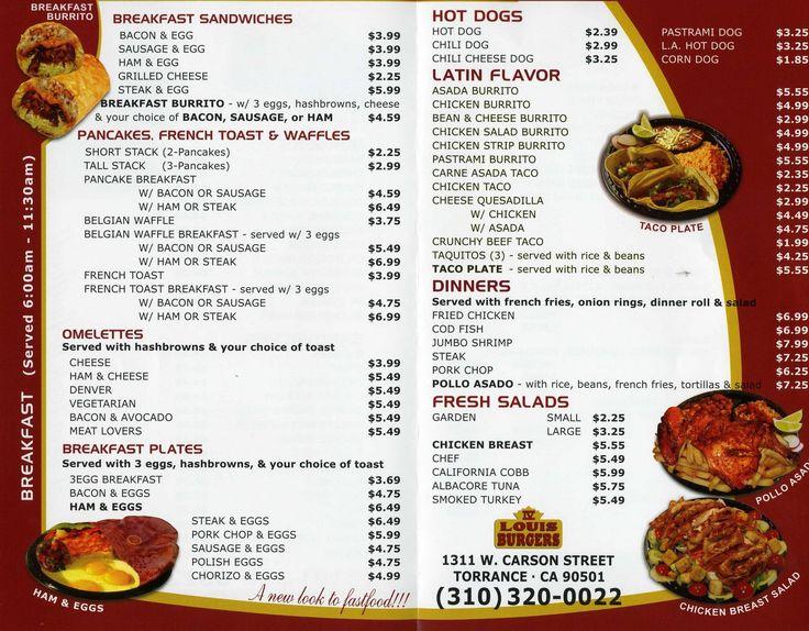 King louis magical colossal burger soul food menu
