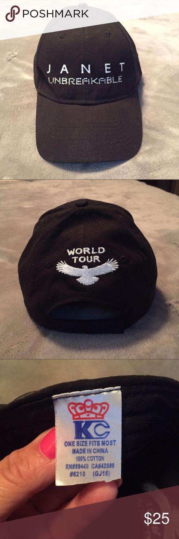 Janet Jackson Unbreakable world tour hat, black Janet Jackson Unbreakable world tour hat, black Other