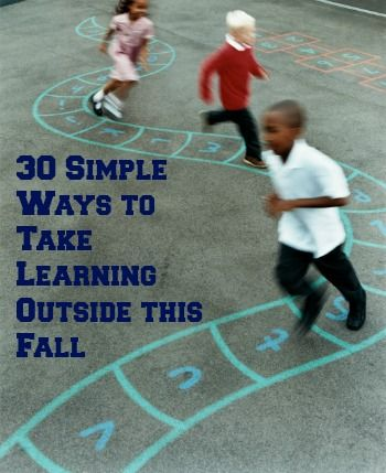 take learning outside- Keep the kids learning where they love it the most- OUTSIDE. Fun and easy suggestions for the fall!