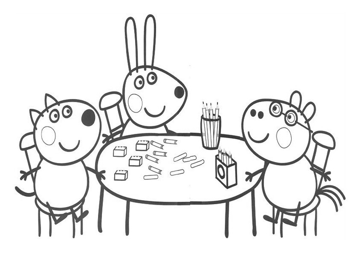 Guarda tutti i disegni da colorare di peppa pig www for Immagini peppa pig da colorare