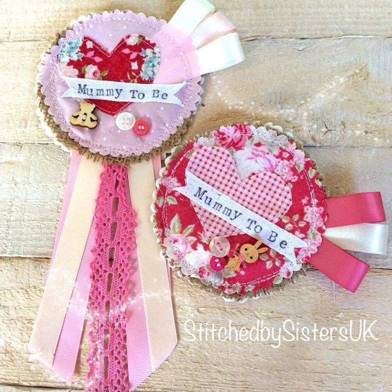 Handmade baby shower Mummy To Be floral by StitchedbySistersuk