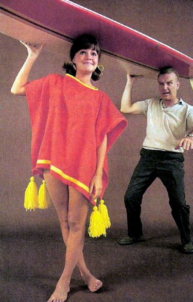 Sally Field - Gidget. I loved this show as little girl! I watched reruns over and over! Love this poncho