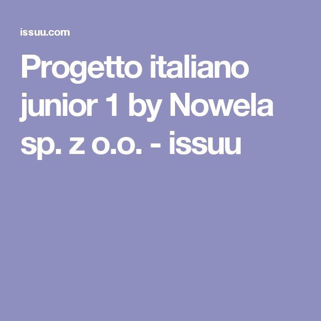 Progetto italiano junior 1 by Nowela sp. z o.o. - issuu