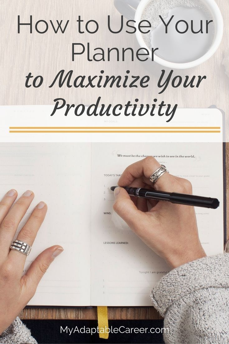 You've got a planner, but are you using it effectively? Check out these four planner hacks to maximize your productivity. Number 3 might surprise you... via @adaptablecareer