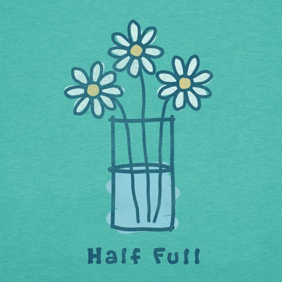 Women's Half Full Short Sleeve Crusher Tee | Positive Tee Shirts | Life is good