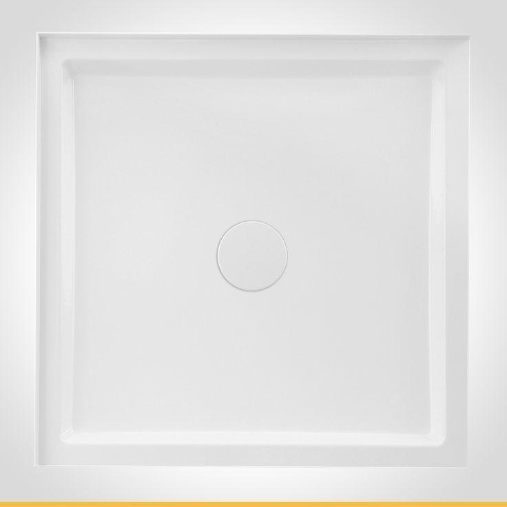 Cadenza 900mm white square shower base
