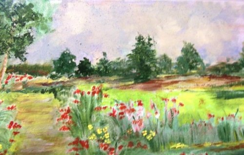 Garden in Leitrim Acrylics on Canvas (2011)