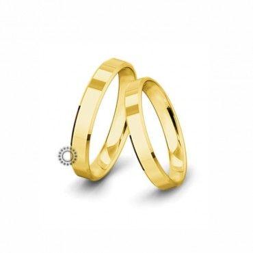 Βέρες γάμου Saint Maurice Classic κίτρινος χρυσός πλάτους 4.0mm επίπεδες εξωτερικά & ανατομικές   Βέρες αρραβώνα Saint Maurice ΤΣΑΛΔΑΡΗΣ στο Χαλάνδρι #SaintMaurice #βερες #γαμου #χρυσος #rings