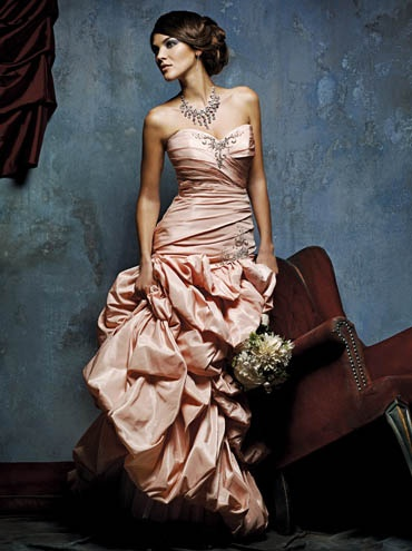 Oscar de la Renta pink  - Strapless Sweetheart Neckline