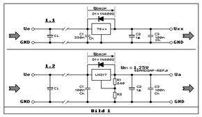 Fixe und einstellbare 3-pin-Spannungsregler (78xx 7805 7812 79xx LM317 LM337 Netzteil Ladeschaltung)