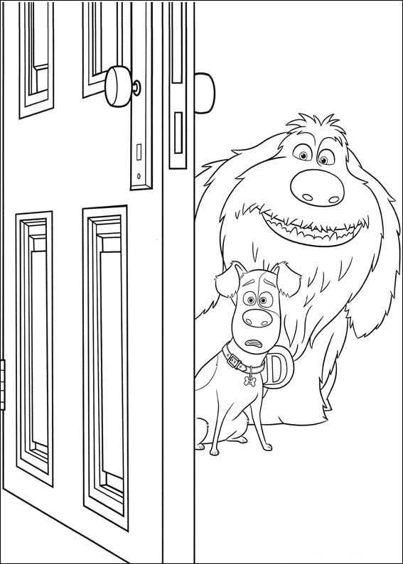 The Secret Life Of Pets Coloring Pages 25