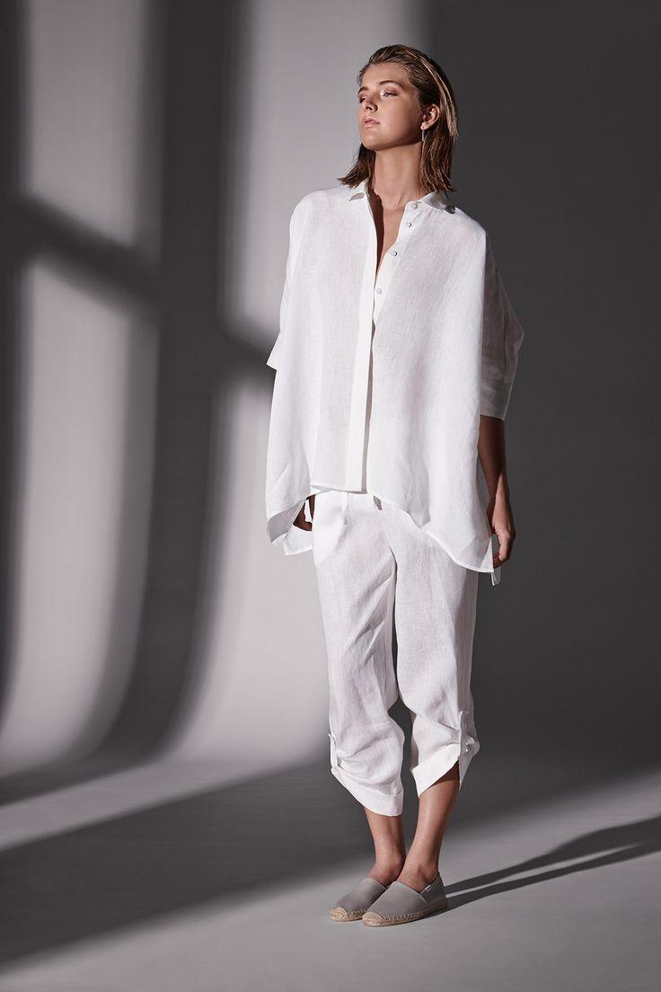 Linen panama shirt and linen tab pant.