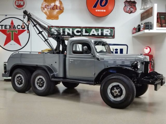 1950 Dodge Power Wagon 6x6 Wrecker Tow Truck Dodge Power Wagon Power Wagon Old Dodge Trucks