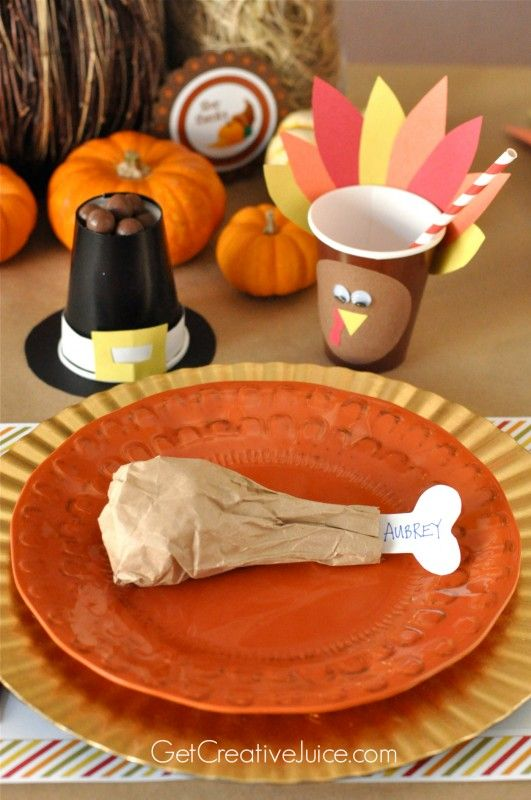 Kid Thanksgiving Table Ideas and Tutorials