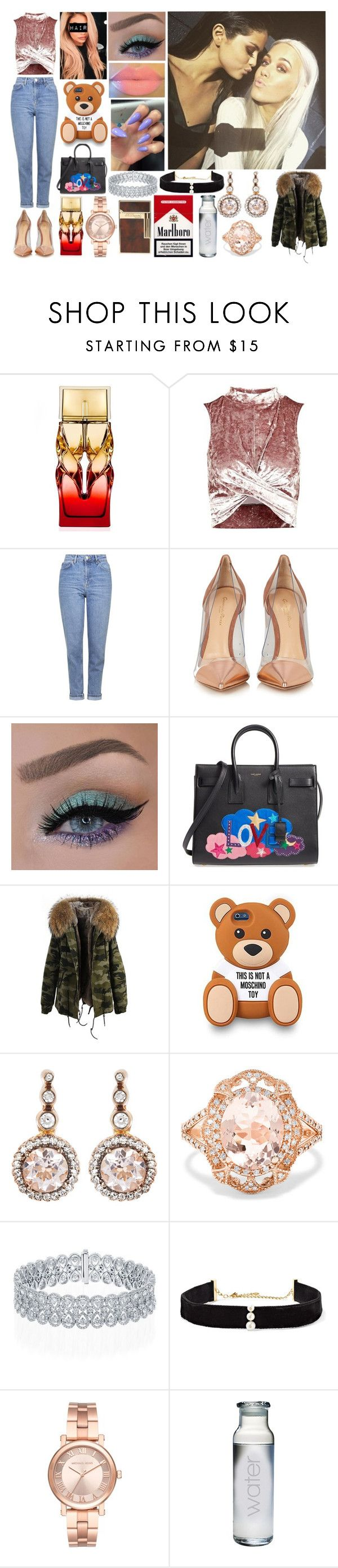 """Taking Selfies with Lottie and Selena Backstage at the XFactor"" by cookie-yolo-girl ❤ liked on Polyvore featuring Christian Louboutin, Topshop, Gianvito Rossi, Justin Bieber, Yves Saint Laurent, Moschino, Selim Mouzannar, Effy Jewelry, Anissa Kermiche and Michael Kors"