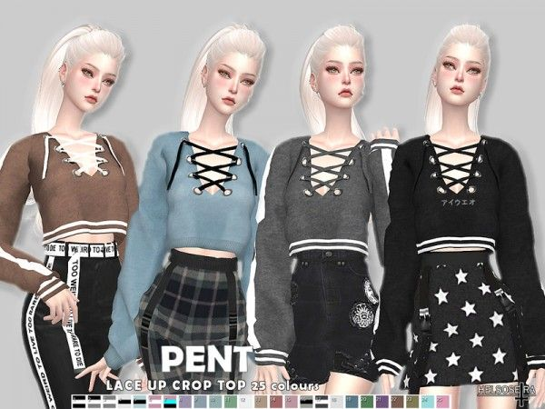 The Sims Resource: PENT | sim tops | Sims 4 clothing, Sims 4
