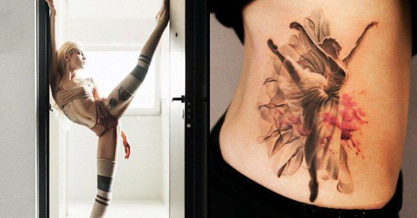 If you enjoy ballet, you will love these charming ballerina tattoos...