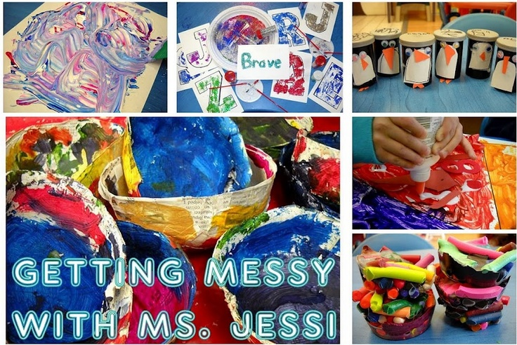 Getting Messy With Ms. Jessi - art for kids
