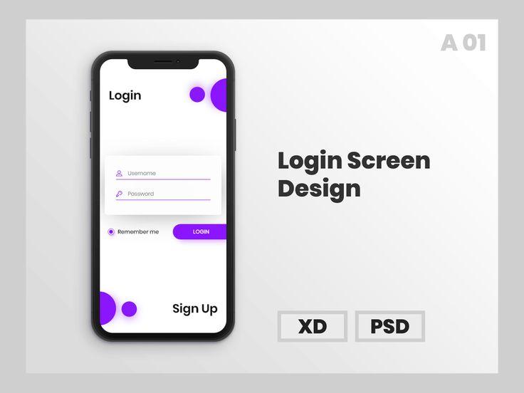Login Screen Free Mock Up Login Design Login Page Design App Design Layout