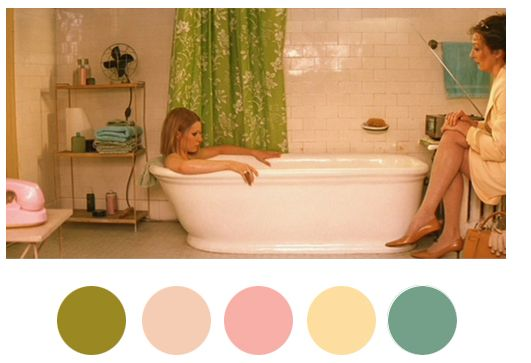 Wes Anderson Color Palettes – Wes Anderson Set Design – House Beautiful – he use…