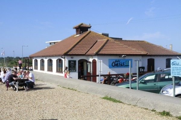 Cafe Oasis on the beach at Overcombe Preston, Weymouth