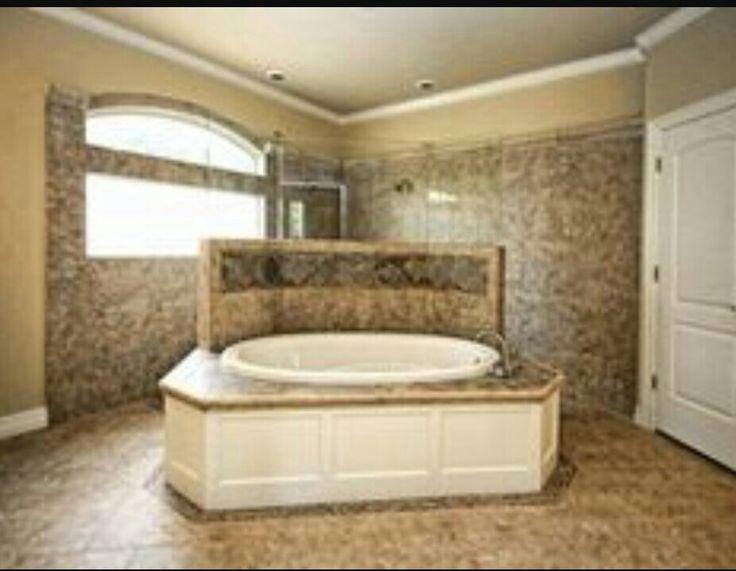 Walk thru with shorter partition bath pinterest walks for Walk through shower plans
