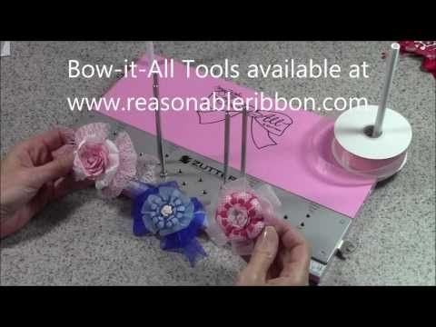 Zutter Bow-it-All V2.0 Tutorial * Bi-Color Double-Loop Bows using Printed Ribbon from RRR - YouTube