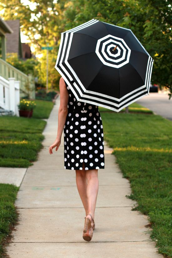 "DIY Striped Umbrella from ""What I Wore"""