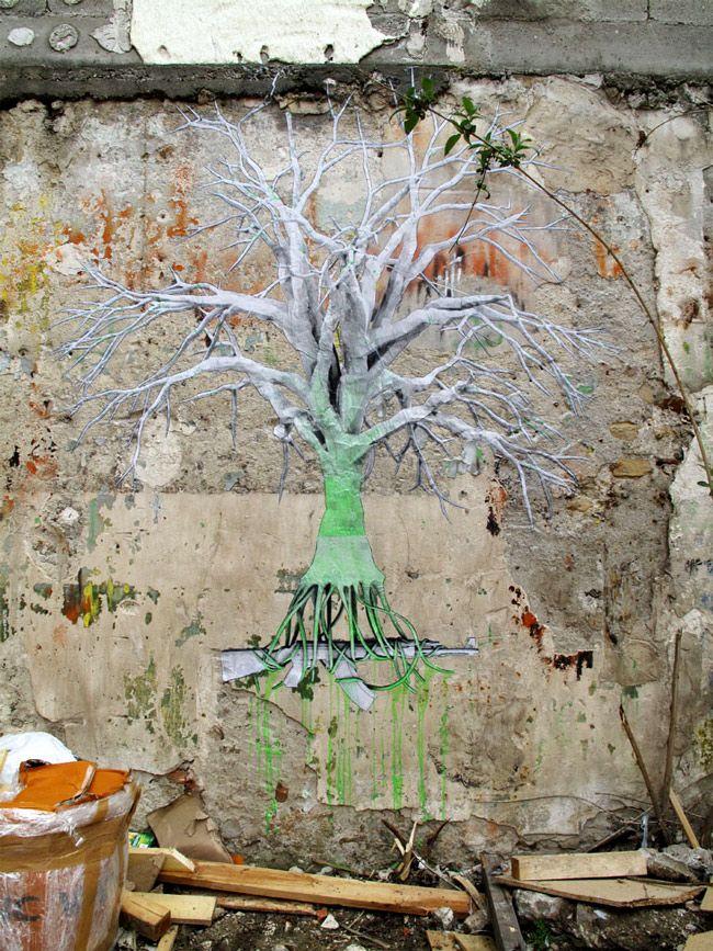 Ludo, Nature's Revenge, Paris - unurth | street art