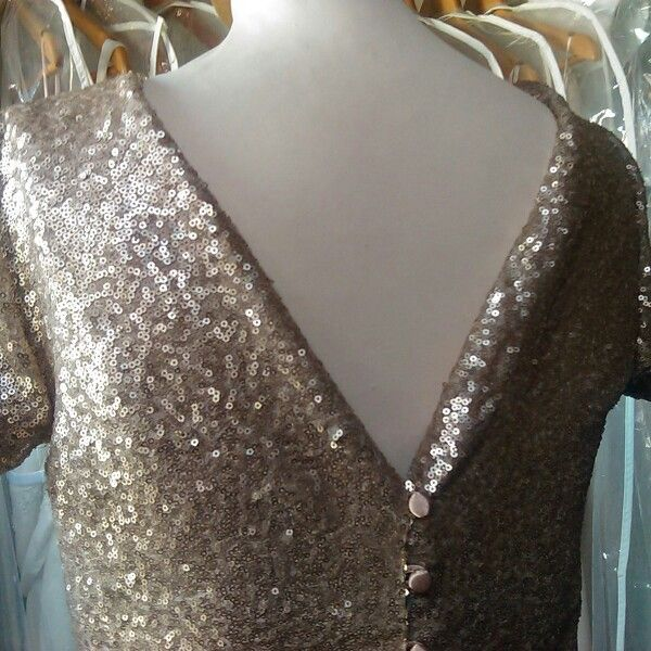 Gold sequinned top AW15 by Geraldine O'Meara designs