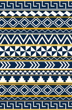 We love the colors on this tribal pattern!