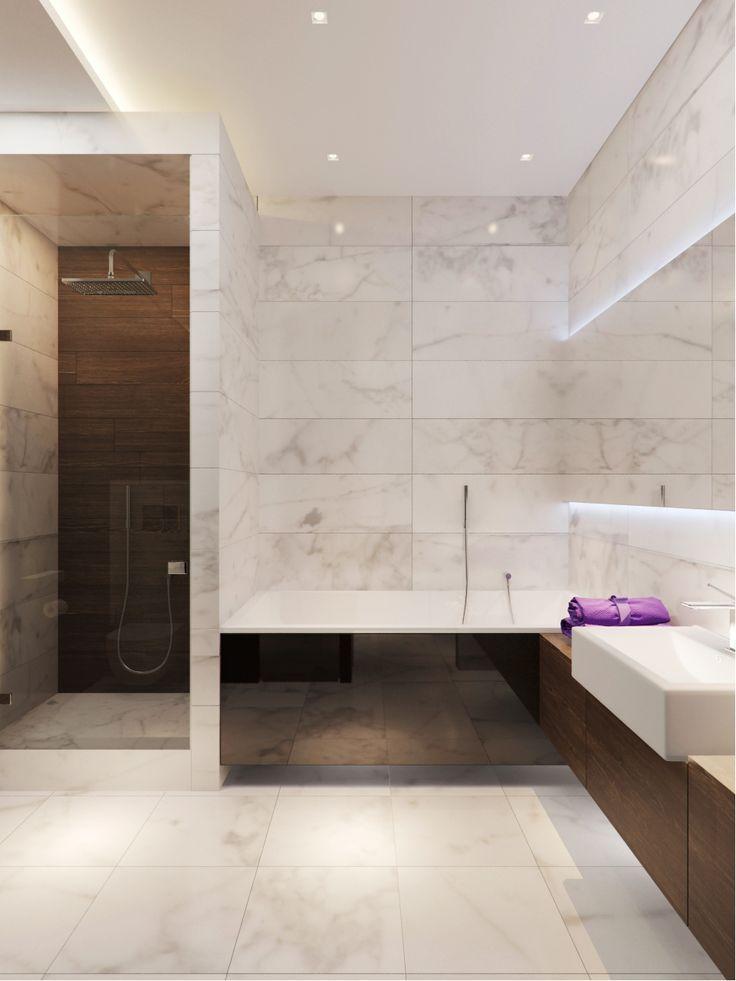 Marble tiles Интерьеры квартиры 140m в жк Mirax park, Архитектурное бюро Александры Федоровой
