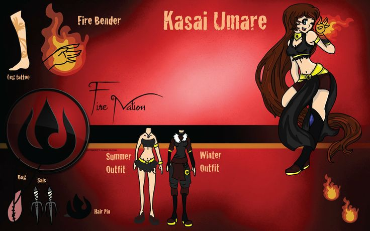 My fan character for Legend of Korra~ Her name is Kasai Read more about her here: http://pandorarose22.deviantart.com/art/LOK-OC-Kasai-Umare-Profile-V1-454249305