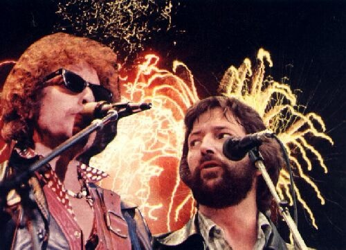 I saw this concert with Bob Dylan and Eric Clapton in Nuremberg, Sep, 1978.