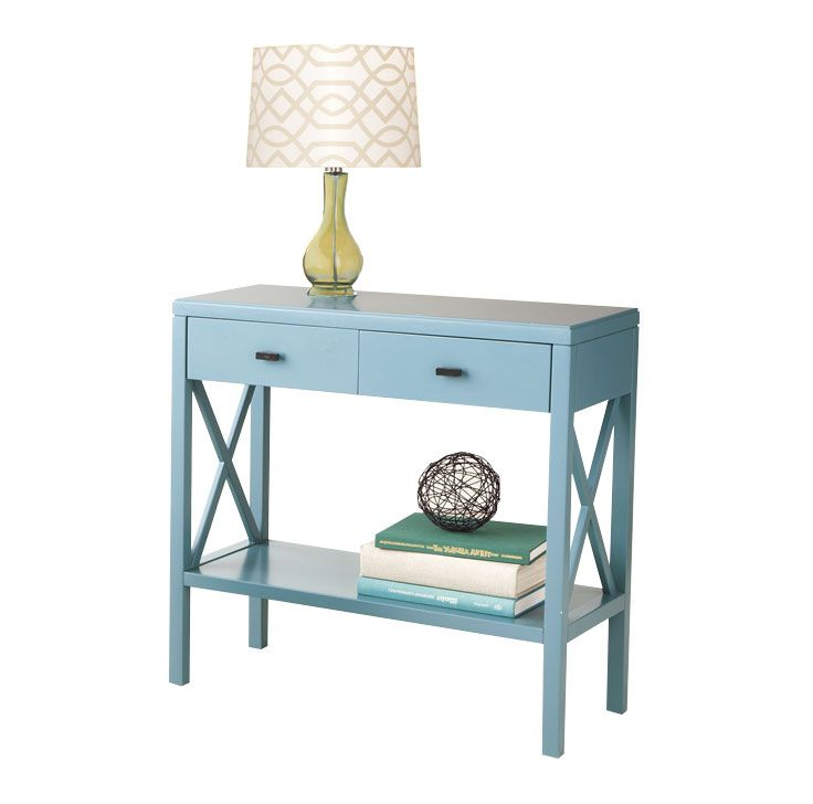 Threshold x console table teal home pinterest for Sofa table yellow
