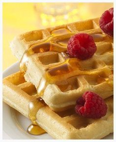 Classic Bisquick® Waffles. Perfectly fluffy... The BEST waffles ever! 2 cups Original Bisquick™ mix 1 1/3 cups milk 1 egg 2 tablespoons vegetable oil