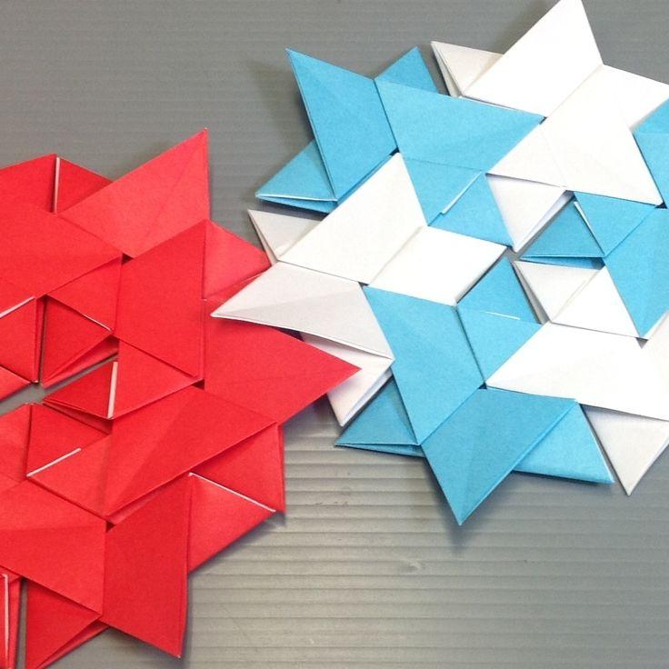 Easy Origami Star Modular Hexagon Tutorial 43