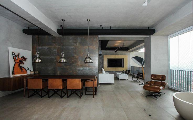Apê com 210 m² ganha integração entre salas e varanda após reforma