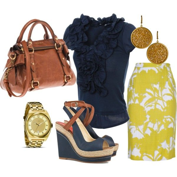 Navy and yellow.i love all of this