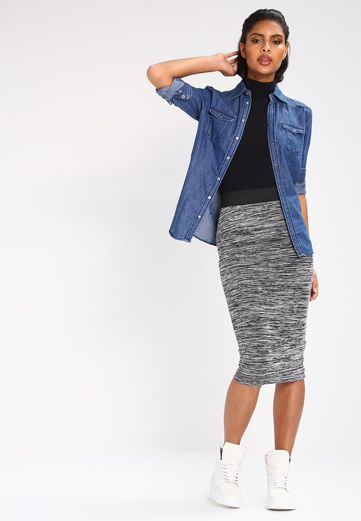 Even&Odd Blyantnederdel / pencil skirts - dark grey melange - Zalando.dk