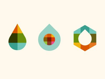 Experimenting with drops for a science/tech startup identity.