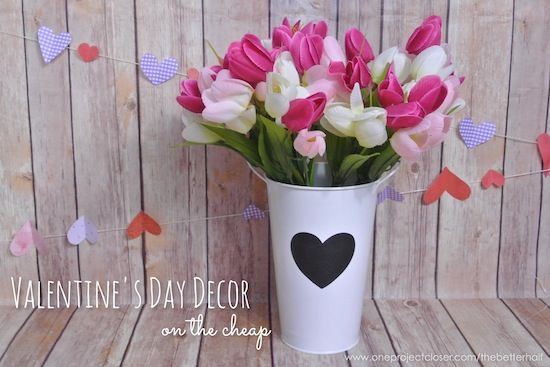 Valentine's Day Decor on the cheap!