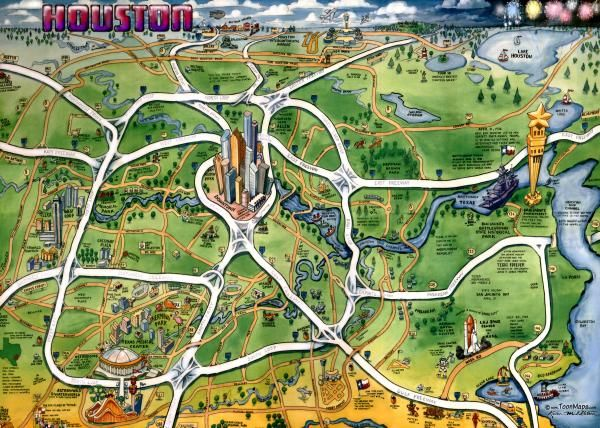 houston texas – Tourist Attractions Map In Houston Texas